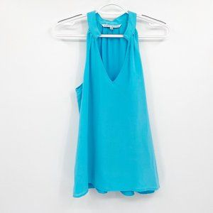 Annie Griffin Blue Silk Tank Top